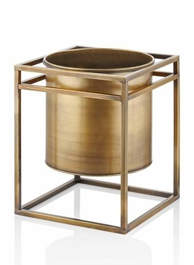 The Mia Saksı 45 x 35 x 35 Cm Gold Altın